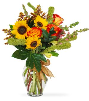 sunny fall day - fall flowers
