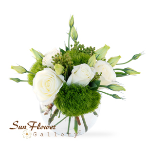 pretty bowl flowers