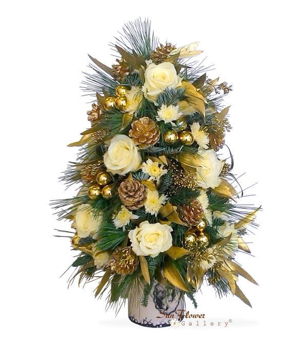 White Christmas Tree by Select Florists