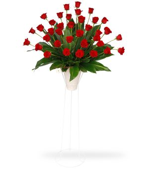 Graceful Red Rose Standing Spray