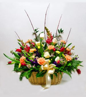 Colorful Sympathy Basket
