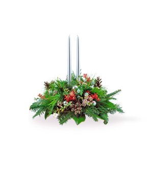 Fragrant Evergreen Centerpiece by Select Florists