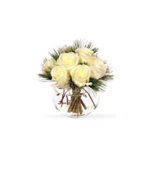 Soft White Roses by Select Florists of Elmhurst, Il.