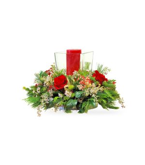 Square Hurricane Centerpiece by select florists of Elmhurst, Il