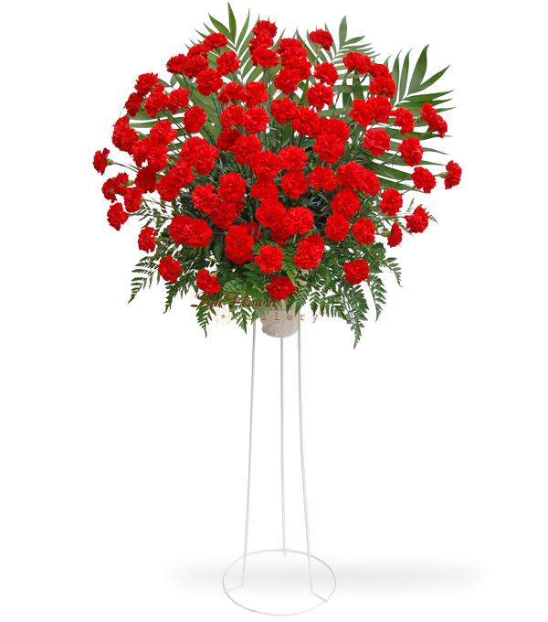 100 Red Carnation Standing Spray