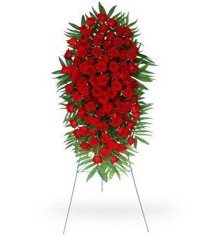100 Red Rose Easel Spray