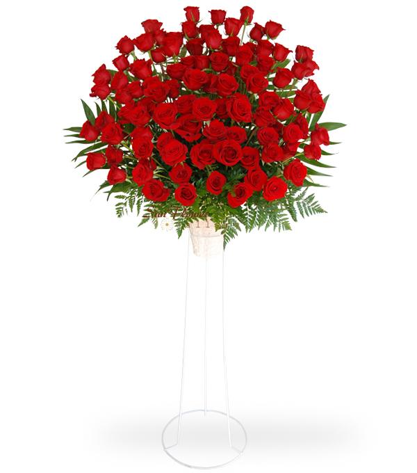 100 Red Rose Standing Spray